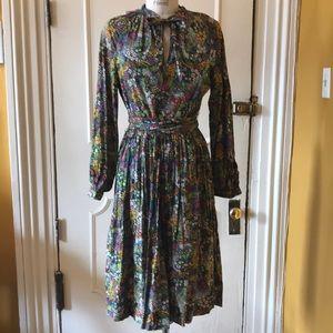 Vintage cotton dress with amazing floral print